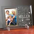 Personalized Family Word-Art Beveled Glass Frame