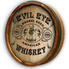 Personalized Evil Eye Whiskey Quarter Barrel Sign