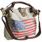 Weathered American Flag Tote Bag
