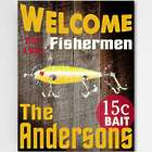 Customized Welcome Fishermen Sign 18x24 Canvas Print