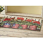 Glory Garden Flowers Door Mat