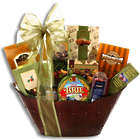 Wine Country Festive Brie and Treats Gift Tin Basket