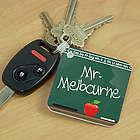 Chalkboard Teacher Personalized Key Chain