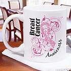 Breast Cancer Awareness Pink Scroll Mug