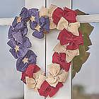 Burlap Patriotic Wreath