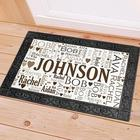 Family Word Art 18x30 Personalized Doormat