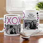 Hugs and Kisses Personalized Photo Coffee Mug