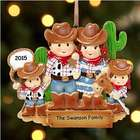 Cowboy Family Personalized Ornament