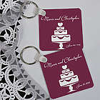 Wedding Cake Personalized Wedding Favor Key Chain