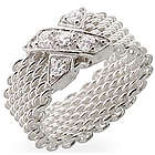 Sterling Silver X Mesh Ring