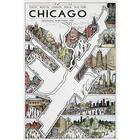 Chicago Marathon Map Print