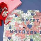 "Mother's Day ""Heart of Our Home"" Map Jigsaw Puzzle"