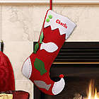 Embroidered Cat Christmas Stocking
