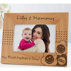Mom's Personalized Smiley Face Picture Frame