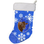 Cow with Snowflakes Holiday Stocking