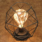 Wire Polygon Sculpture LED Light
