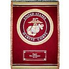 Personalized United States Marine Corps Cotton Throw