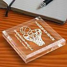 Personalized Basketball Keepsake & Paperweight