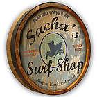Personalized Surf Shop Quarter Barrel Sign