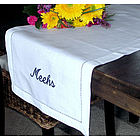 Monogrammed Linen Table Runner