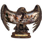Luminous Majesty Illuminated Eagle Sculpture