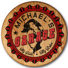 Personalized Garage Girl Barrel Head Sign