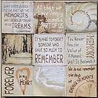 Loving Memory Memorial Quotes on Canvas Print