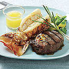 Steak and Lobster Tails Feast