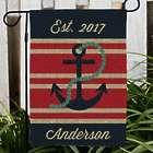 Personalized Nautical Burlap Garden Flag