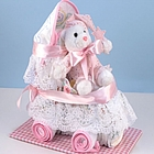 Baby Girl Diaper Carriage Gift Set