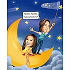 Twinkle, Twinkle Caricature Print Personalized from Photo