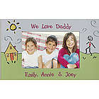 Personalized Stick Figure and House Photo Magnet Frame