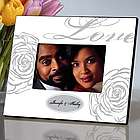 White Personalized Love Wedding Picture Frame