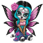 Bright Sofia Sugar Skull Fairy Figurine