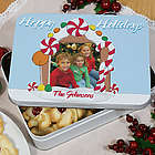 Personalized Gingerbread House Photo Cookie Tin