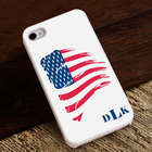 Proud to Be an American Monnogrammed White iPhone 4 or 5 Case