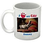 I Love My Cat Personalized Photo Coffee Mug