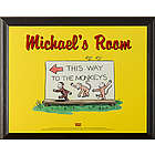 Personalized Curious George Wall Plaque