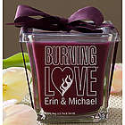 Burning Love Mulberry Personalized Elvis Candle