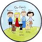 "11"" Personalized Family Portrait People Plate"