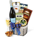 A Toast to Christmas Champagne and Snacks Gift Basket