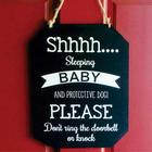 Baby Sleeping Do Not Disturb Chalkboard Door Sign