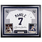 Mickey Mantle Yankees Deluxe Framed Majestic Cooperstown Jersey