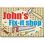 Personalized My Fix It Shop Metal Wall Sign