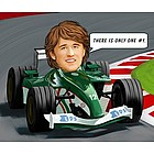 Race Car Driver Caricature from Photos