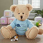 Boy's New Arrival Personalized Baby Teddy Bear