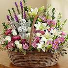 Angel Lavender and White Basket