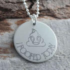Poop Emoji Personalized Necklace