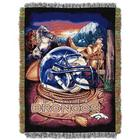 Denver Broncos Home Field Advantage Throw Blanket