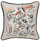 Hand Embroidered Italy Pillow